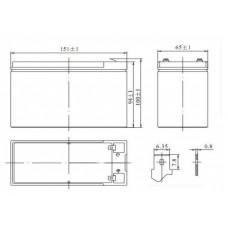 АКБ Delta HRL 12V-7.2  7.2А/Ч