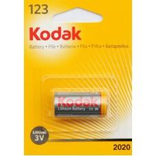 Элемент питания Kodak CR123 3V