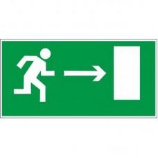 Знак Е03 «Направление к эвакуационному выходу направо» 150х300 мм пленка фотолюминесцентная