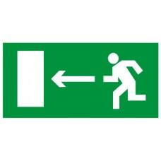"""Знак Е04""""Направление к эвакуац.выходу налево"""" 300х150мм пленка фотолюминесцентная"""