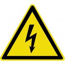 Знак W08 «Опасность поражения электрическим током» 200х200х200мм пленка фотолюминесцентная