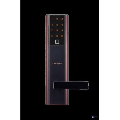 Врезной электронный дверной замок Samsung SHP-DH538 Copper с отпечатком пальца