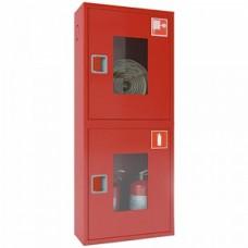 ПК-320Н: Шкаф пожарный со стеклом красный