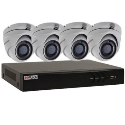 Комплект видеонаблюдения на 4 камеры 5Mp HiWatch