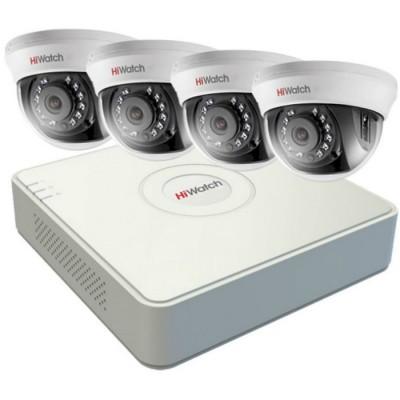 Комплект видеонаблюдения на 4 камеры 2Mp  HiWatch