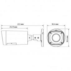 DH-HAC-HFW1100RP-VF-S3 Гибридная видеокамера Dahua